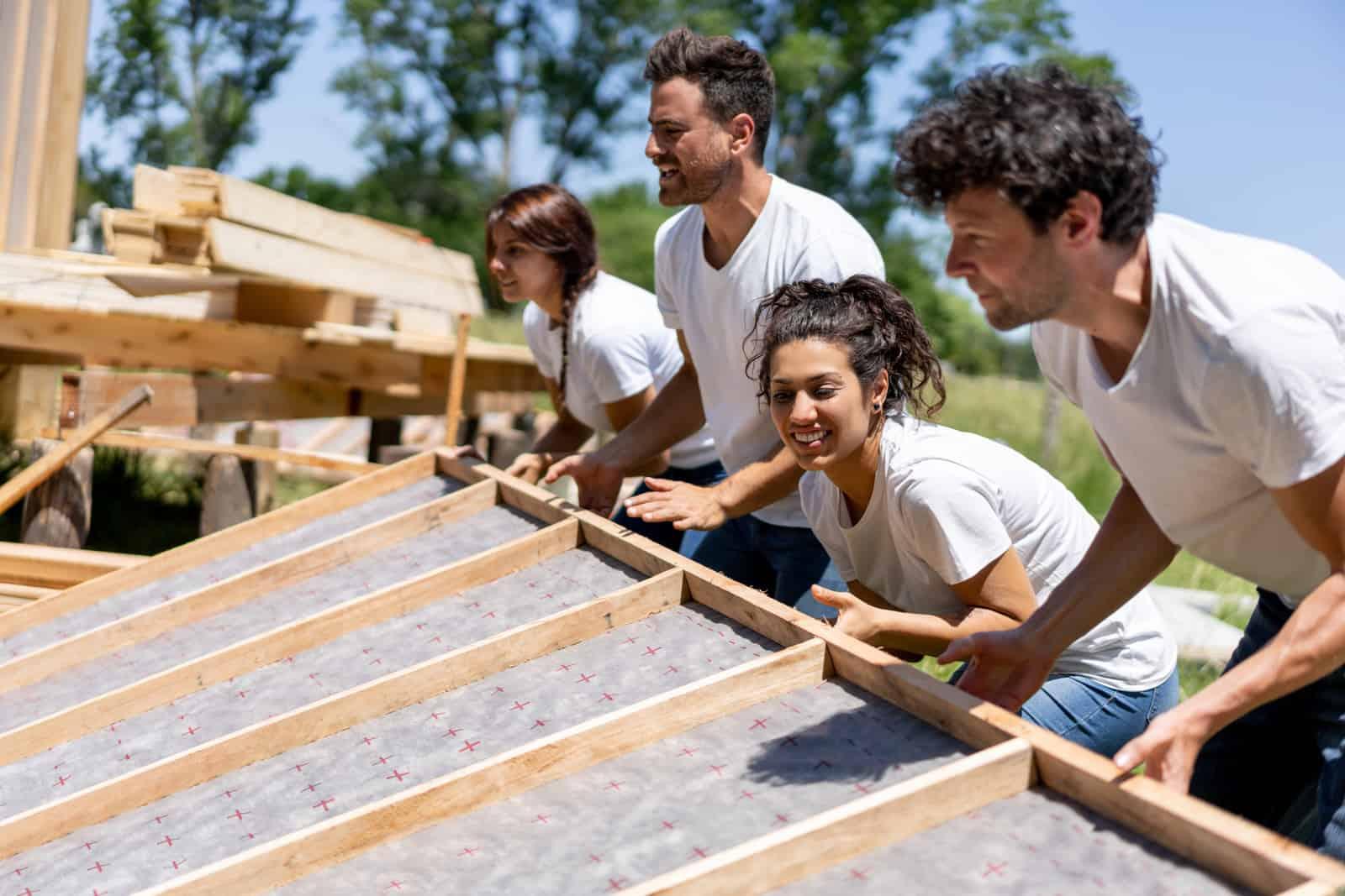volunteers in the community